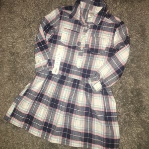 3 for $20🆕🌸NWOT CARTER'S FLANNEL PLEATED DRESS